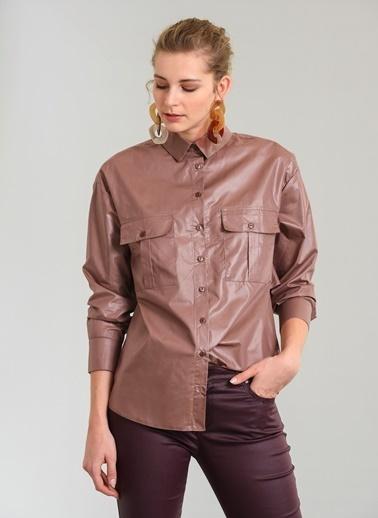 Sırtı Volanlı Kaplamalı Gömlek-People By Fabrika